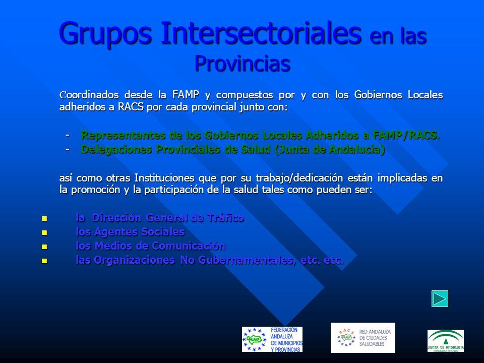 Grupos Intersectoriales en las Provincias