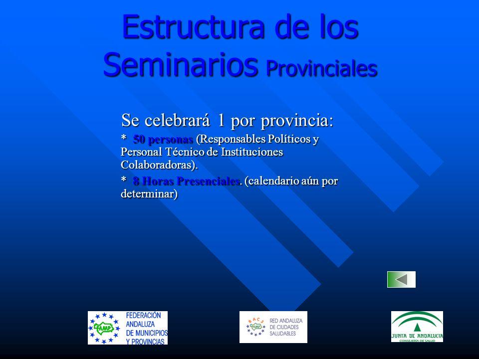 Estructura de los Seminarios Provinciales