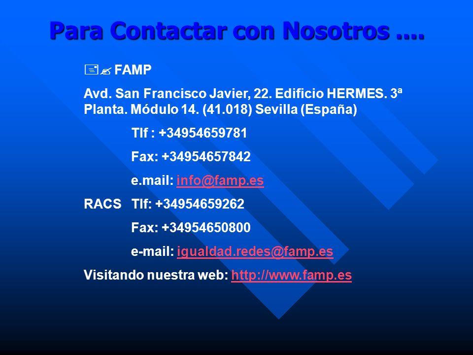 Para Contactar con Nosotros ....