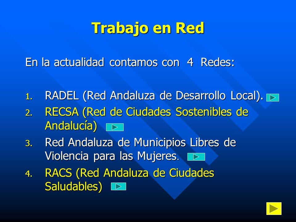 Trabajo en Red En la actualidad contamos con 4 Redes: