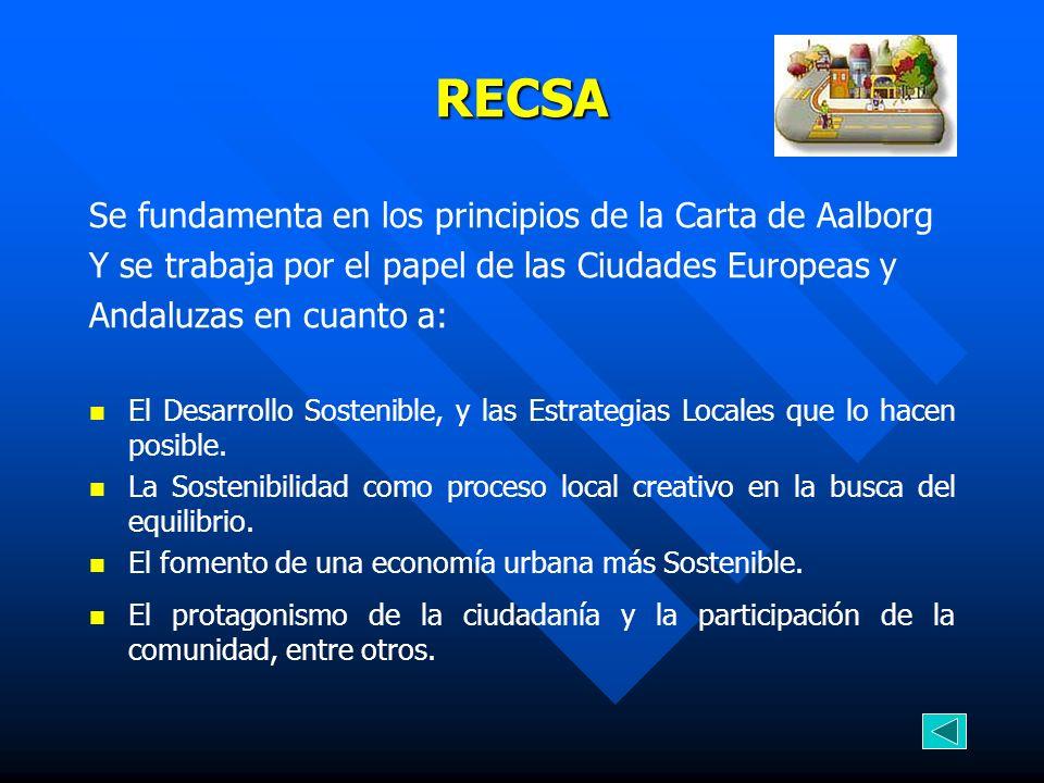 RECSA Se fundamenta en los principios de la Carta de Aalborg