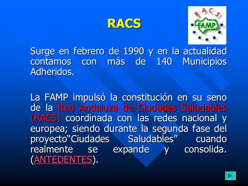 RACSSurge en febrero de 1990 y en la actualidad contamos con más de 140 Municipios Adheridos.