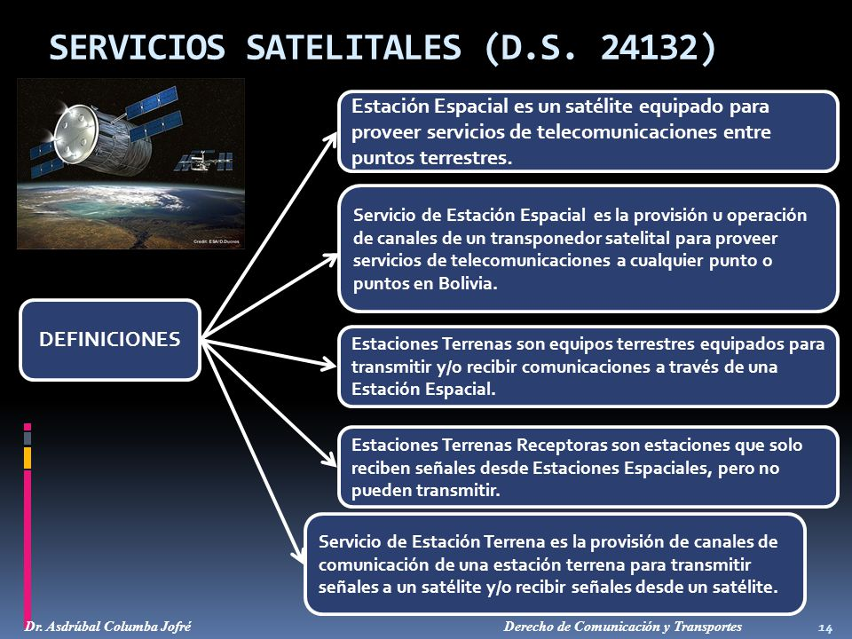 SERVICIOS SATELITALES (D.S. 24132)