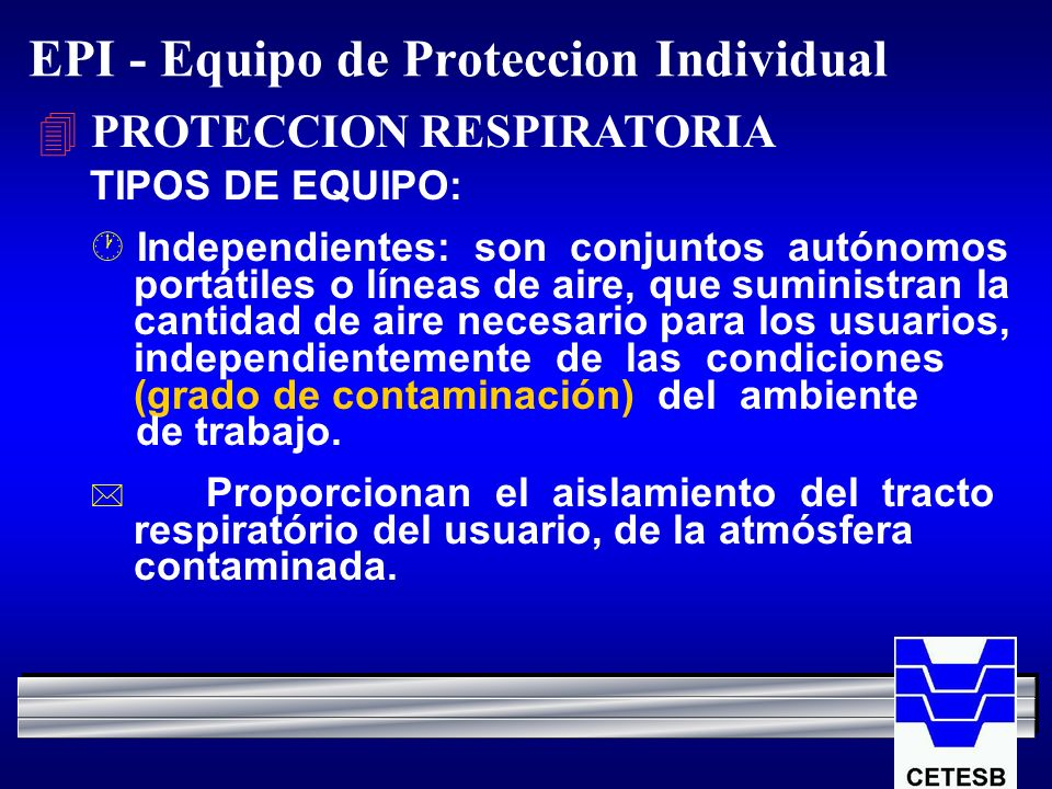 EPI - Equipo de Proteccion Individual