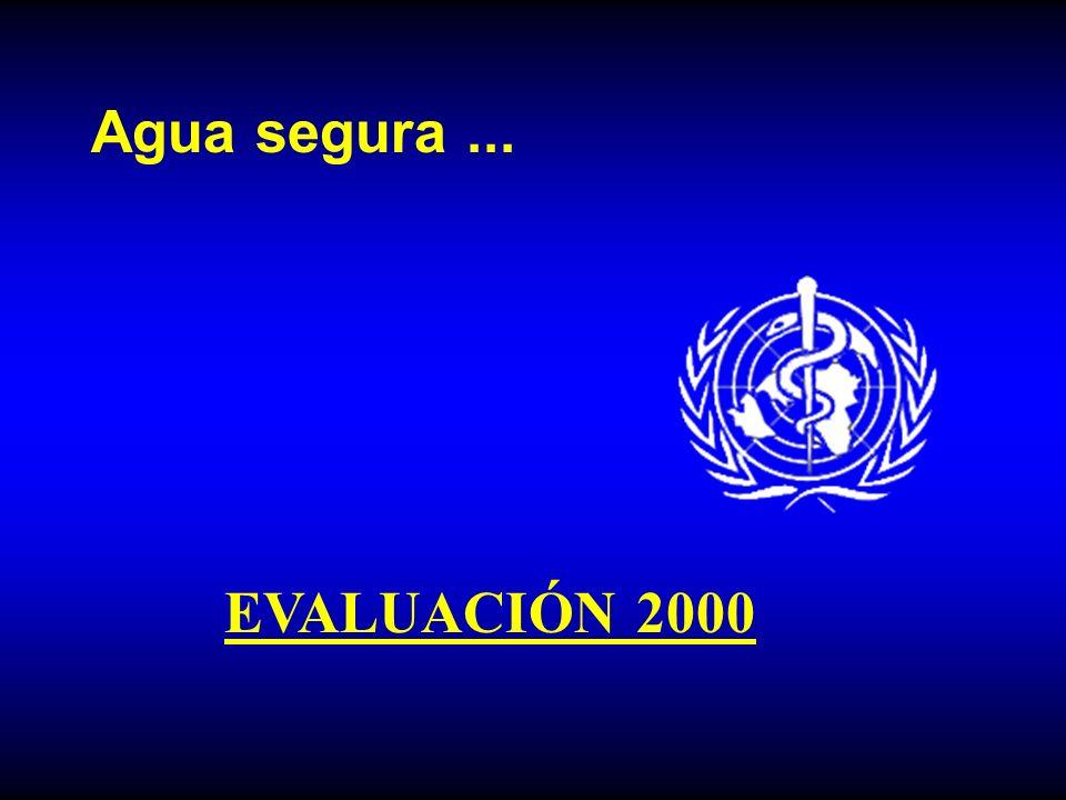 Agua segura ... EVALUACIÓN 2000