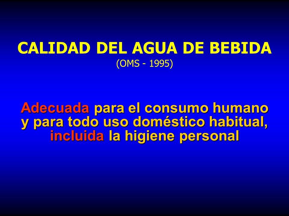 CALIDAD DEL AGUA DE BEBIDA (OMS - 1995)
