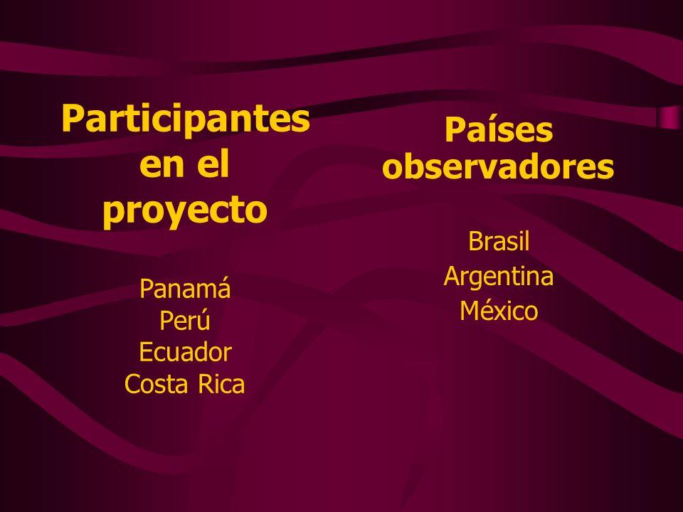 Participantes en el proyecto Panamá Perú Ecuador Costa Rica