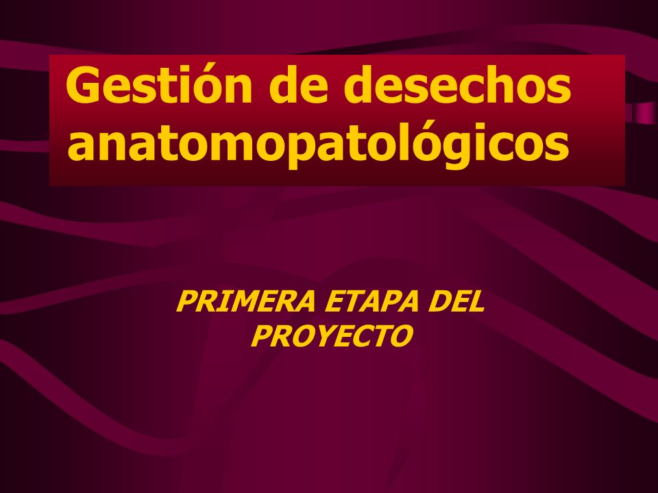 Gestión de desechos anatomopatológicos