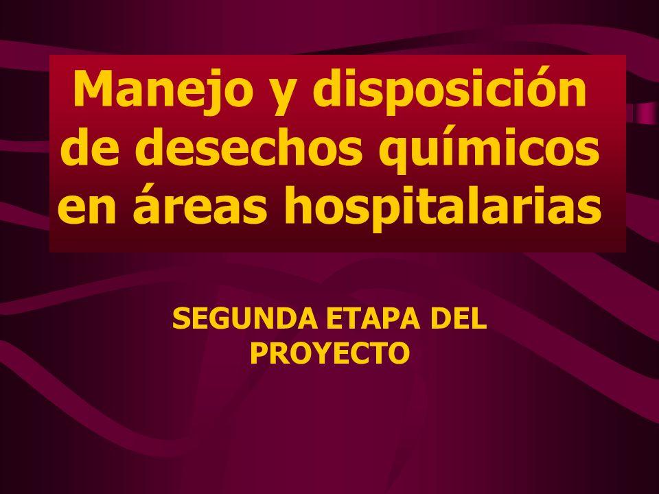 Manejo y disposición de desechos químicos en áreas hospitalarias
