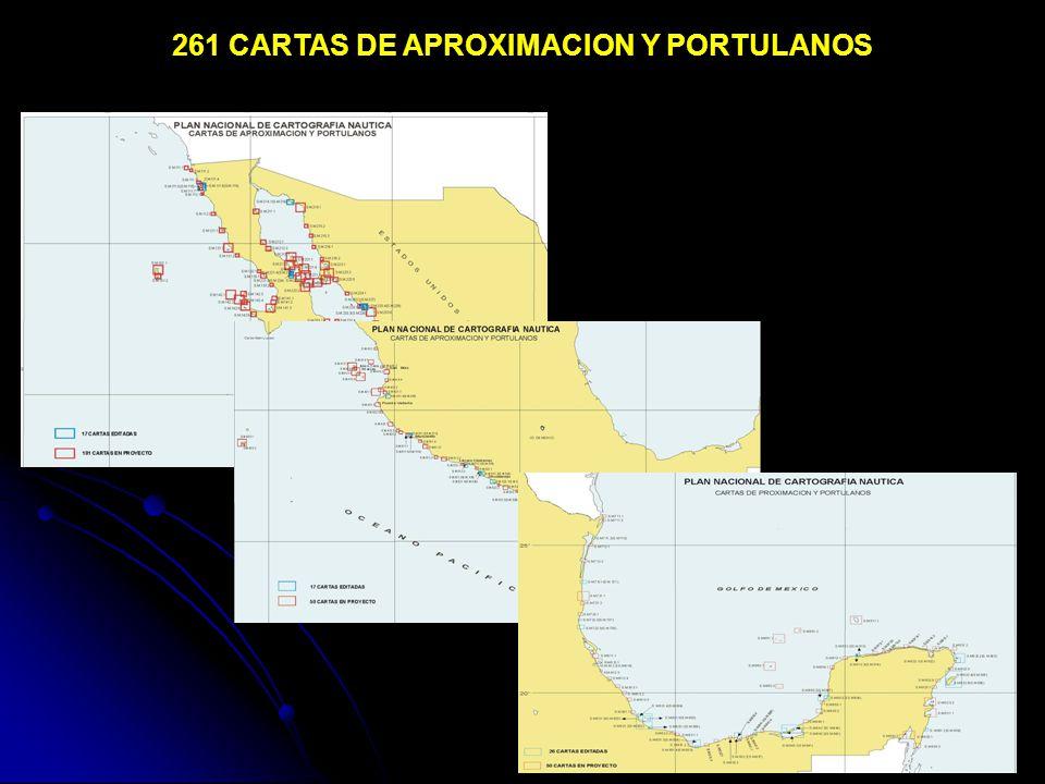 261 CARTAS DE APROXIMACION Y PORTULANOS