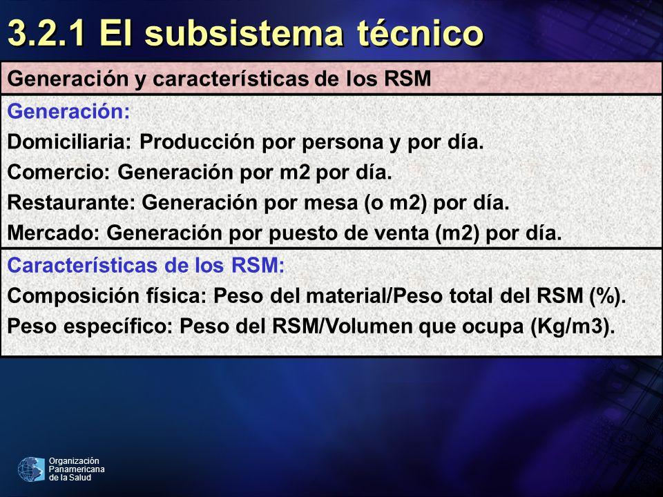 3.2.1 El subsistema técnico Generación y características de los RSM