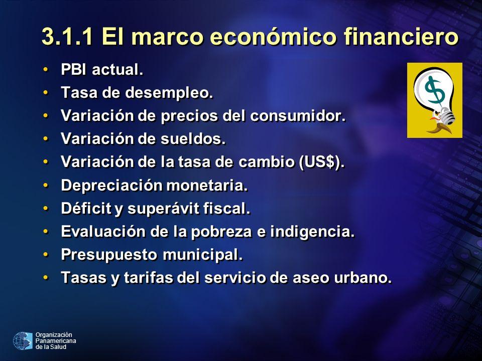 3.1.1 El marco económico financiero