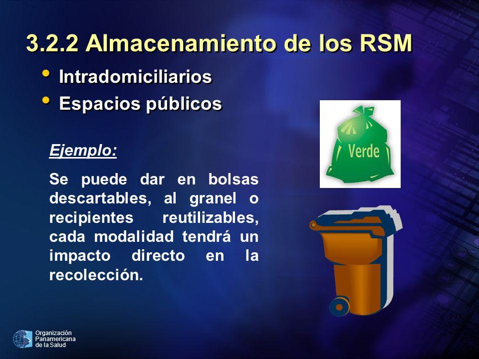 3.2.2 Almacenamiento de los RSM