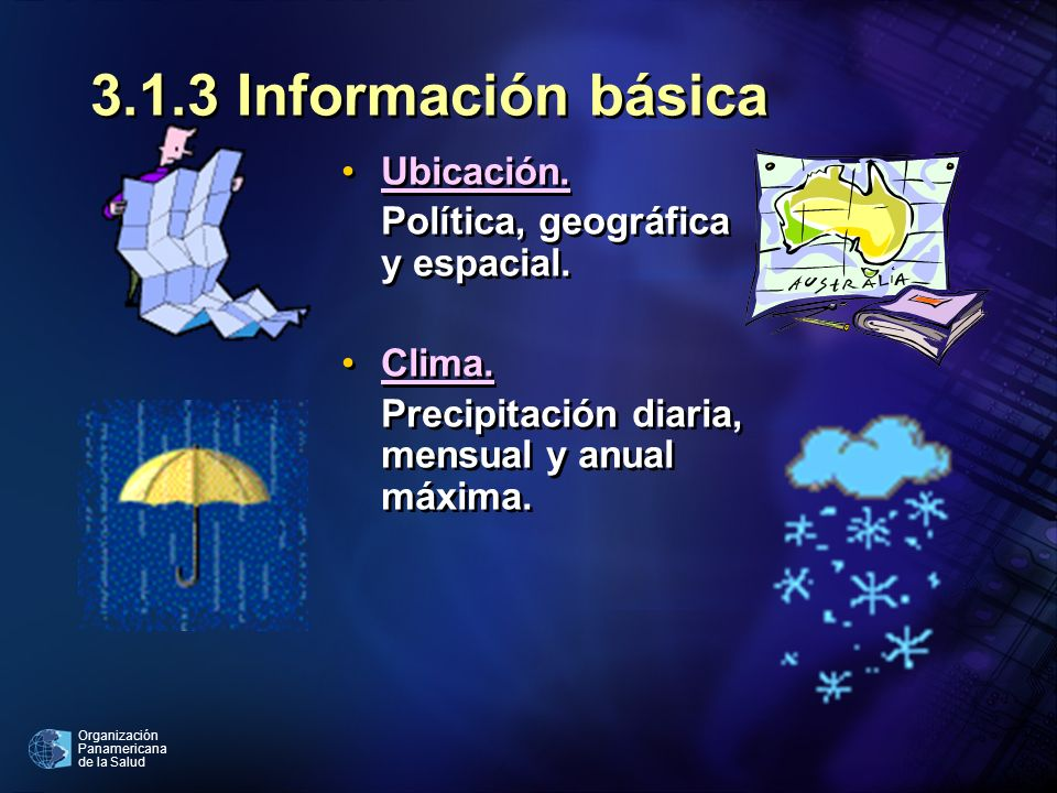 3.1.3 Información básica Ubicación. Política, geográfica y espacial.
