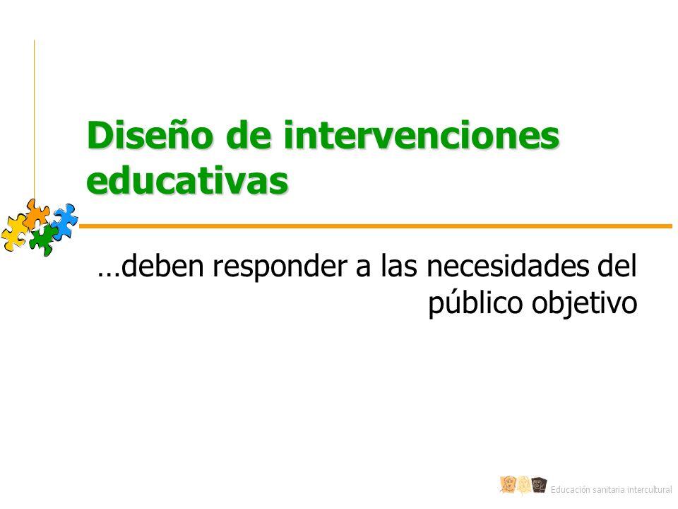 Diseño de intervenciones educativas