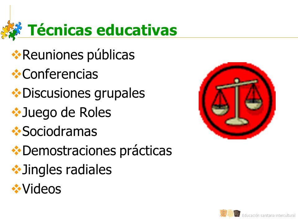 Técnicas educativas Reuniones públicas Conferencias