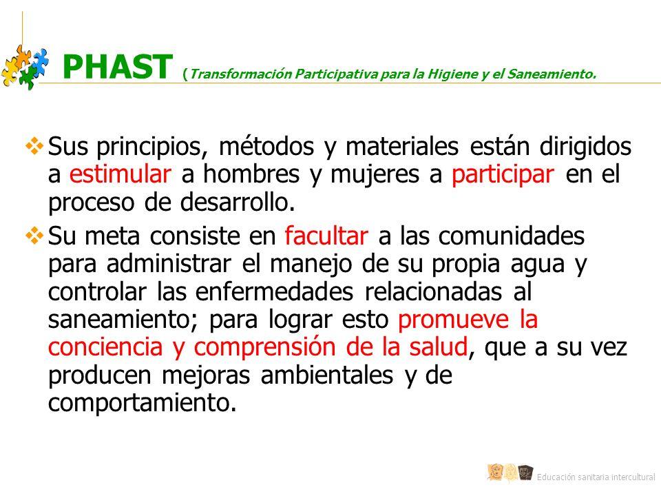 PHAST (Transformación Participativa para la Higiene y el Saneamiento.