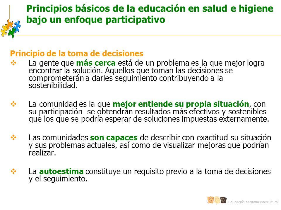 Principios básicos de la educación en salud e higiene bajo un enfoque participativo