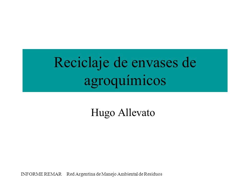 Reciclaje de envases de agroquímicos