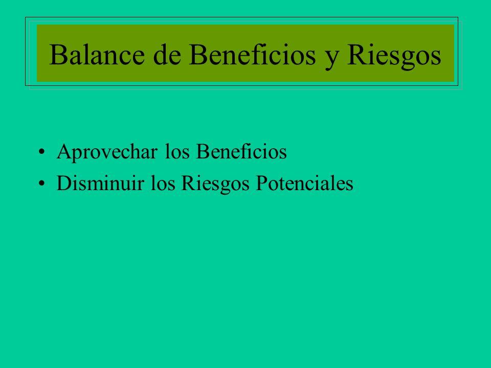 Balance de Beneficios y Riesgos