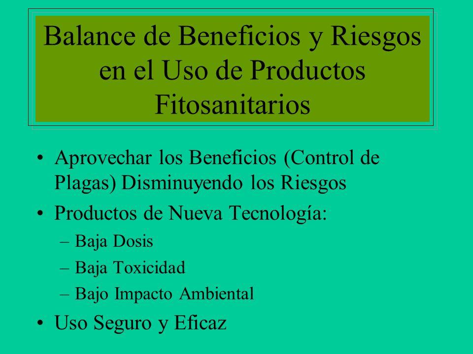 Balance de Beneficios y Riesgos en el Uso de Productos Fitosanitarios