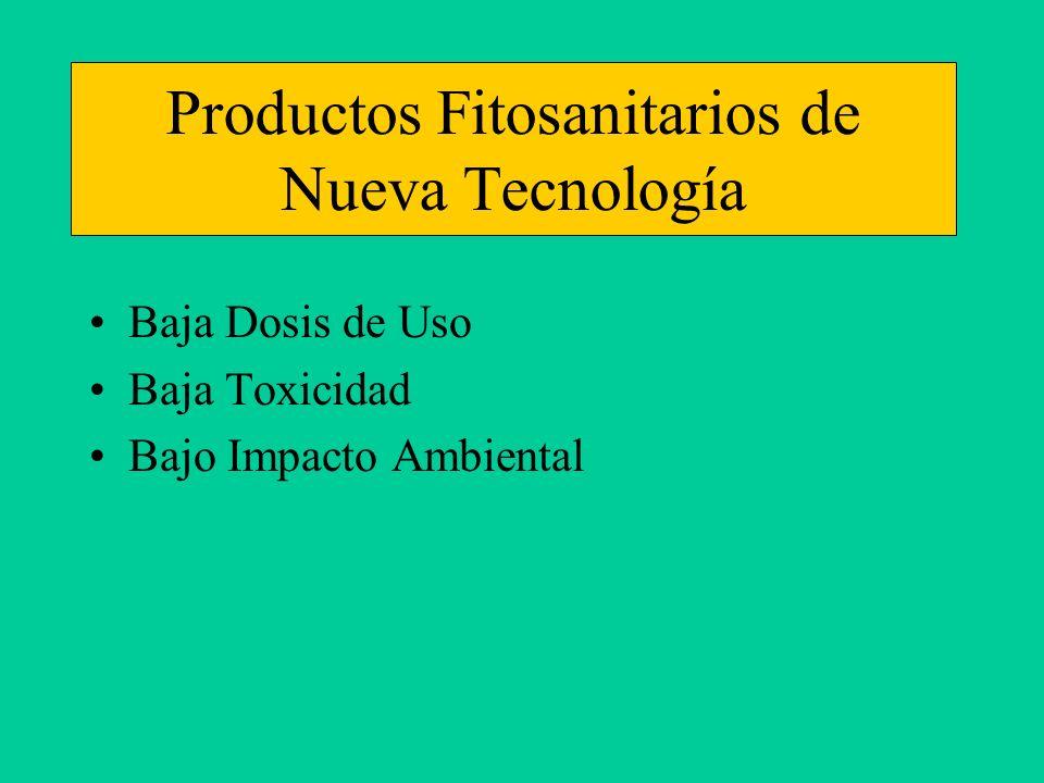 Productos Fitosanitarios de Nueva Tecnología