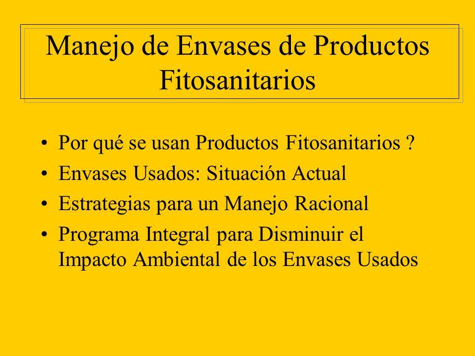 Manejo de Envases de Productos Fitosanitarios