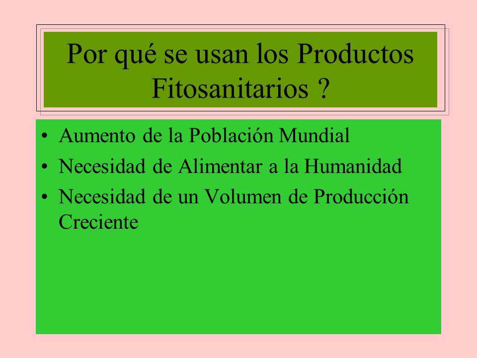 Por qué se usan los Productos Fitosanitarios
