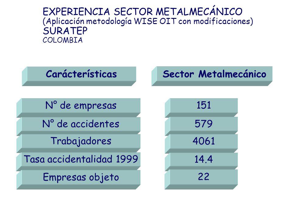 Carácterísticas Sector Metalmecánico