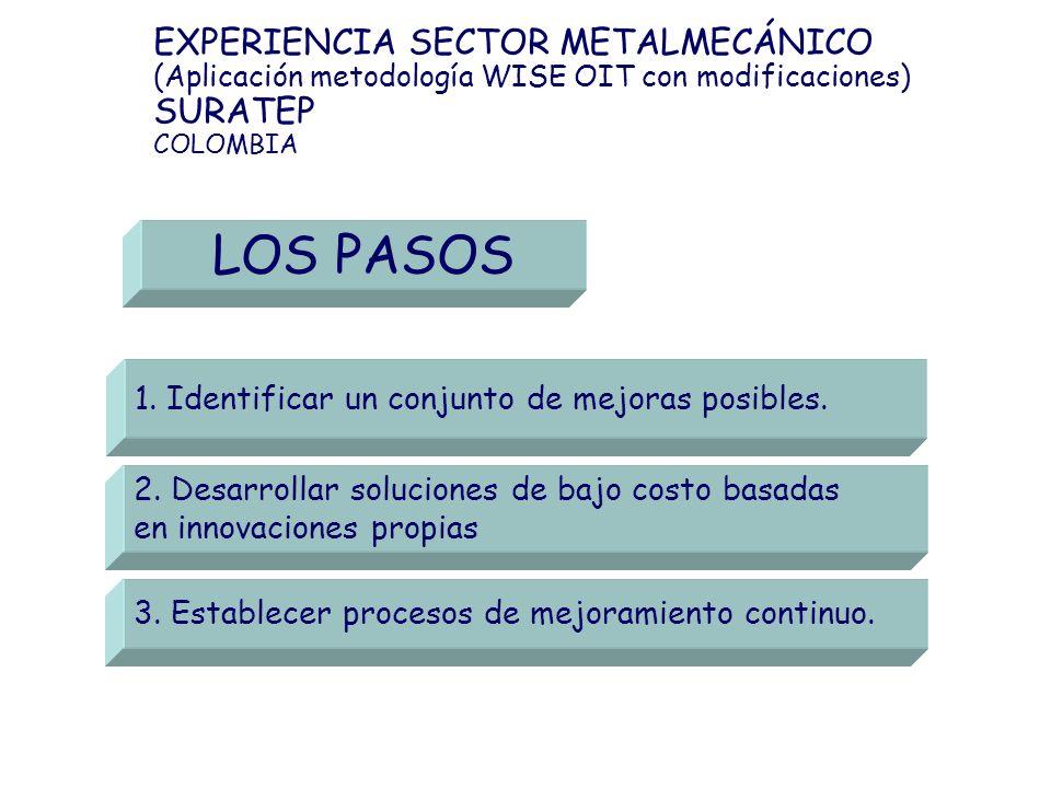 LOS PASOS EXPERIENCIA SECTOR METALMECÁNICO SURATEP