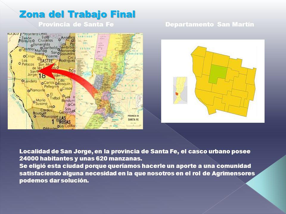 Zona del Trabajo Final Provincia de Santa Fe Departamento San Martín