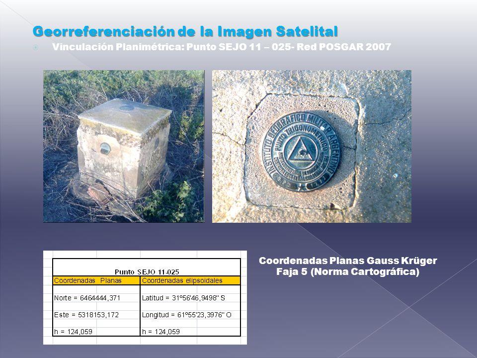 Georreferenciación de la Imagen Satelital