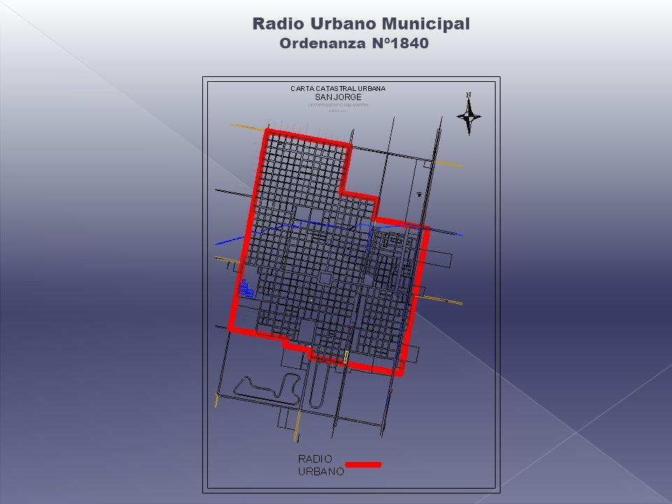 Radio Urbano Municipal Ordenanza Nº1840