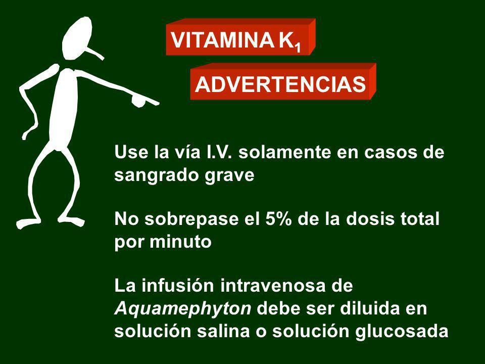VITAMINA K1 ADVERTENCIAS