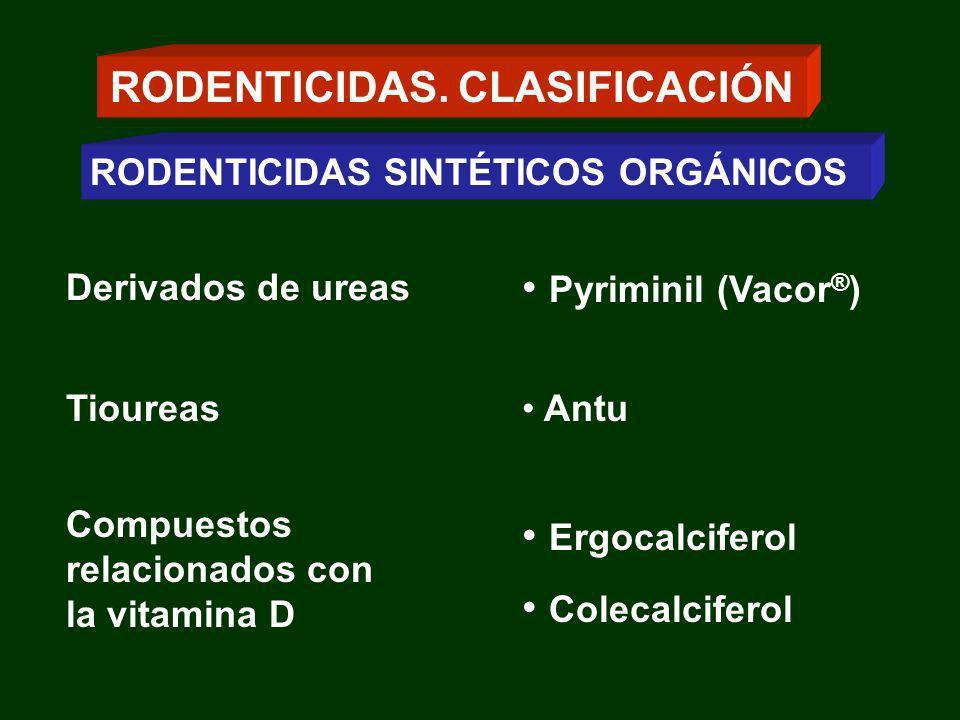 RODENTICIDAS. CLASIFICACIÓN