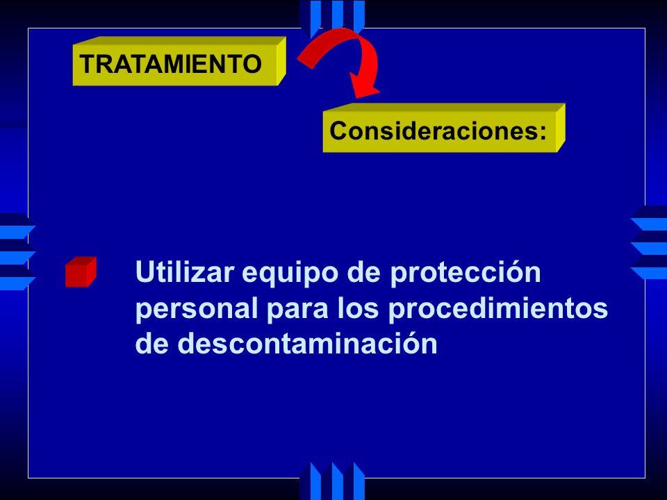 Utilizar equipo de protección personal para los procedimientos