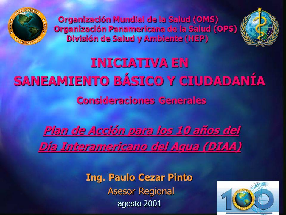 Organización Mundial de la Salud (OMS) Organización Panamericana de la Salud (OPS) División de Salud y Ambiente (HEP)