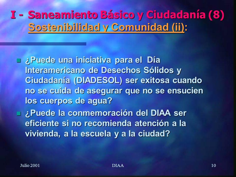 I -. Saneamiento Básico y Ciudadanía (8)