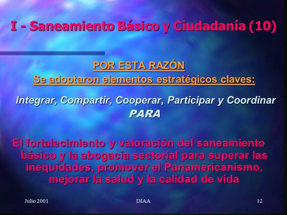I - Saneamiento Básico y Ciudadanía (10)