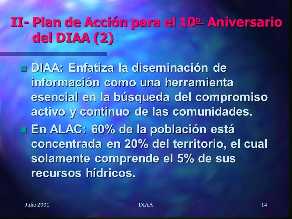 II- Plan de Acción para el 10o Aniversario del DIAA (2)