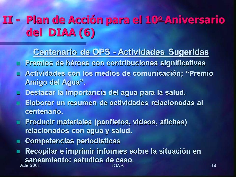 II - Plan de Acción para el 10o Aniversario del DIAA (6)