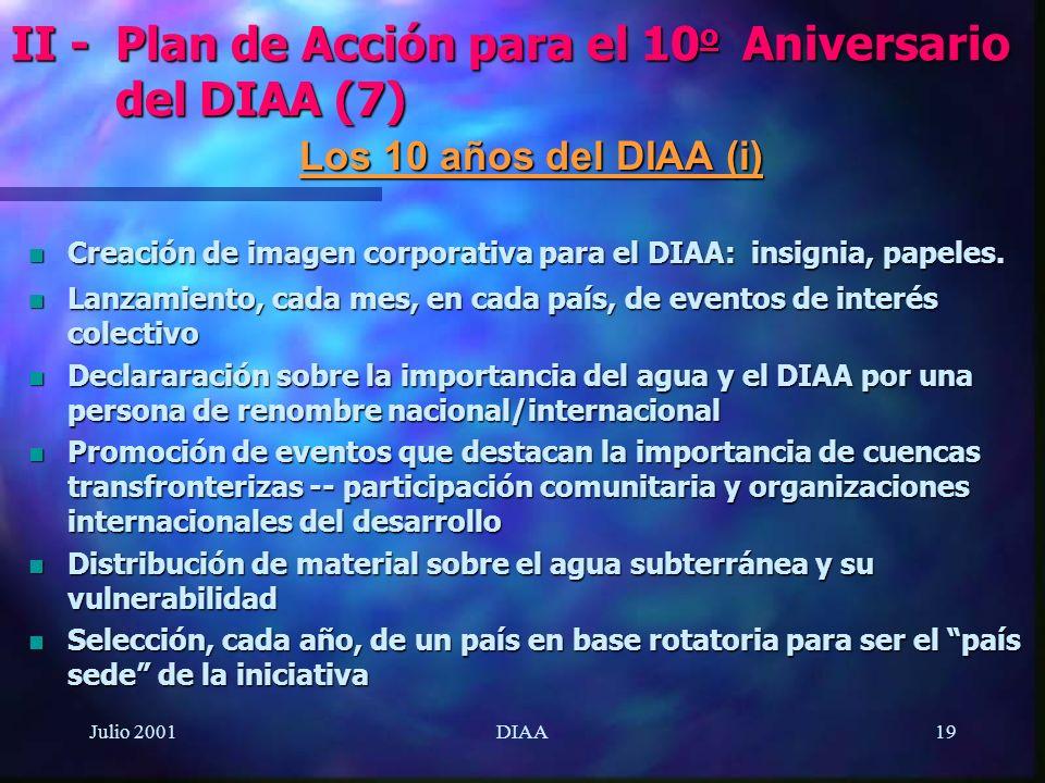II - Plan de Acción para el 10o Aniversario del DIAA (7)