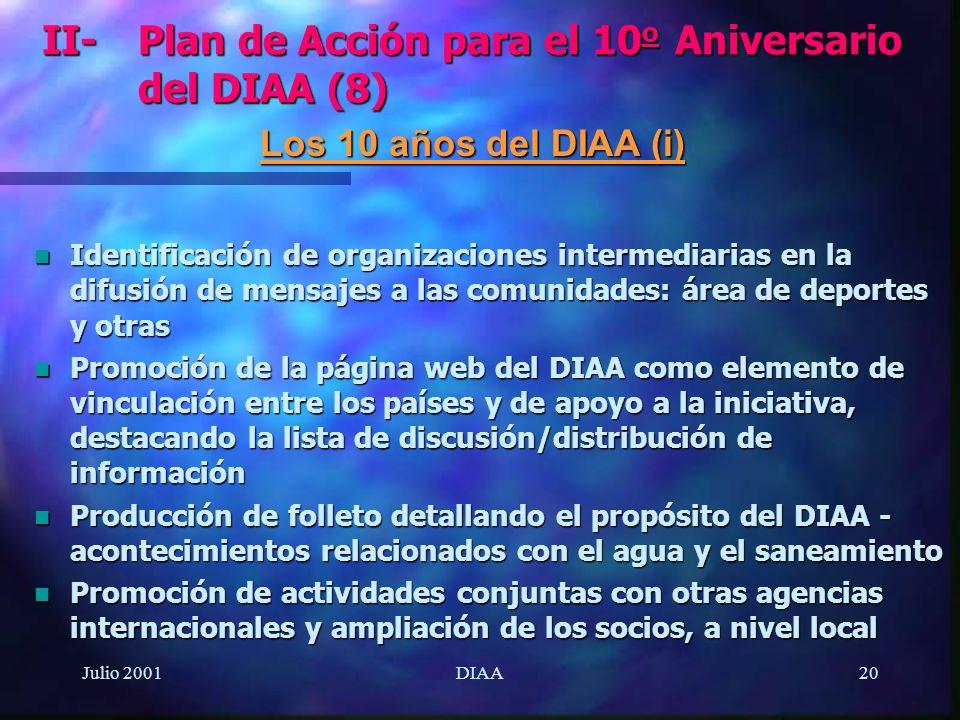 II- Plan de Acción para el 10o Aniversario del DIAA (8)