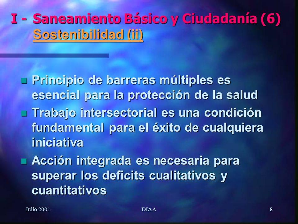I - Saneamiento Básico y Ciudadanía (6) Sostenibilidad (ii)