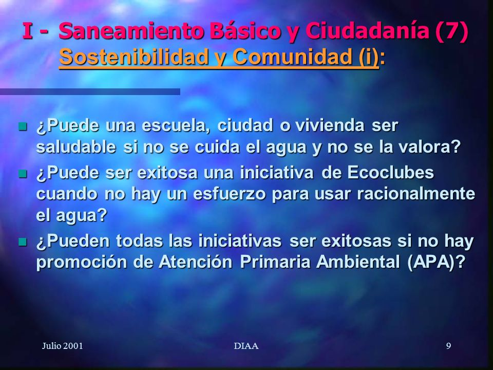I -. Saneamiento Básico y Ciudadanía (7)