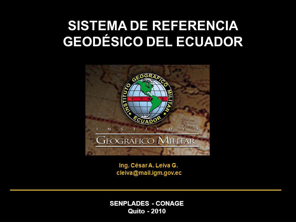 SISTEMA DE REFERENCIA GEODÉSICO DEL ECUADOR