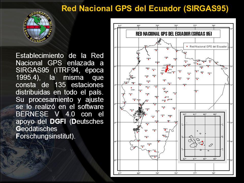 Red Nacional GPS del Ecuador (SIRGAS95)