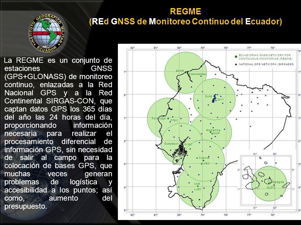 REGME (REd GNSS de Monitoreo Continuo del Ecuador)