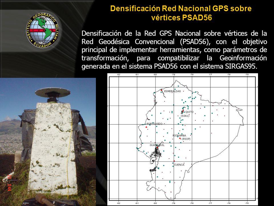 Densificación Red Nacional GPS sobre