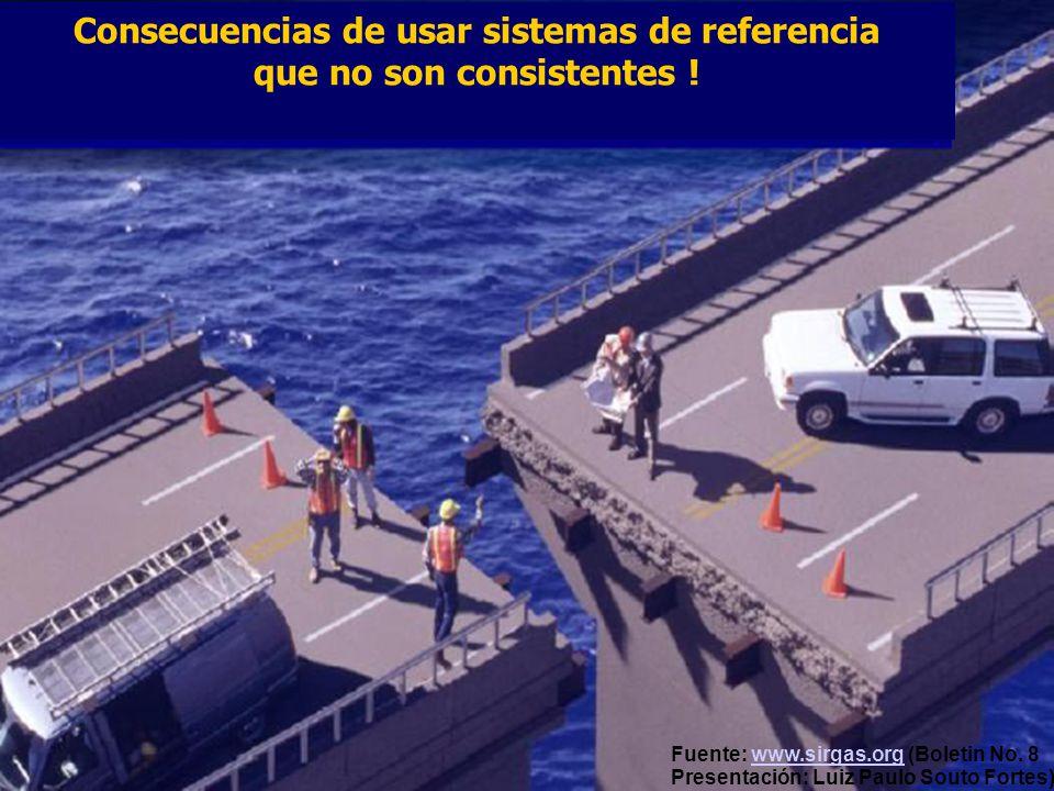 Consecuencias de usar sistemas de referencia que no son consistentes !